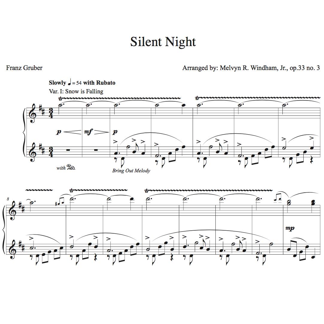Silent night piano sheet music advanced piano ideas free silent night piano sheet music advanced version hexwebz Choice Image